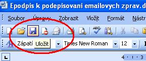 Uložení souboru do stávajícího dokumentu