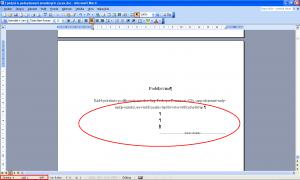 Netisknutelné znaky a informace ve stavovém řádku